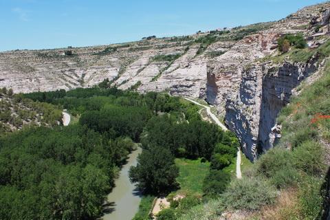Alcalá del Júcar Flusstal des Jucar