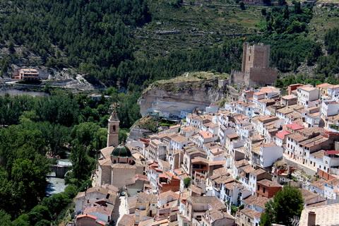 Alcalá del Júcar Gesamtansicht von Norden