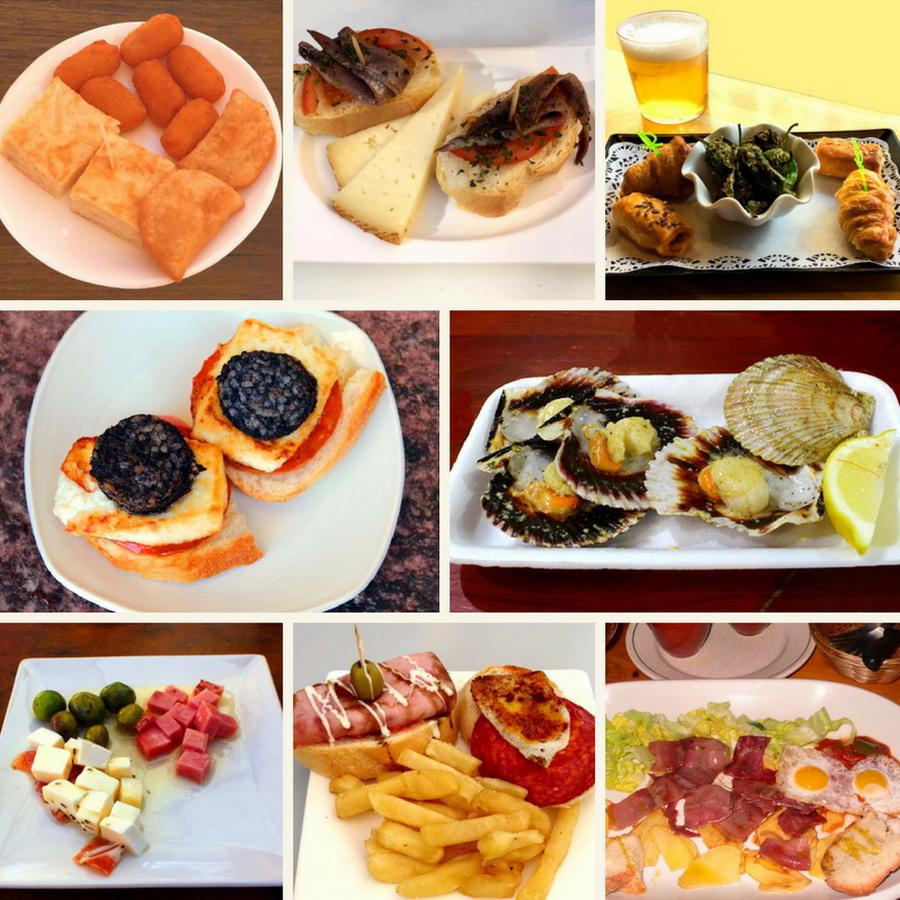 Auswahl an Tapas und Aperitivos, Spanische Küche