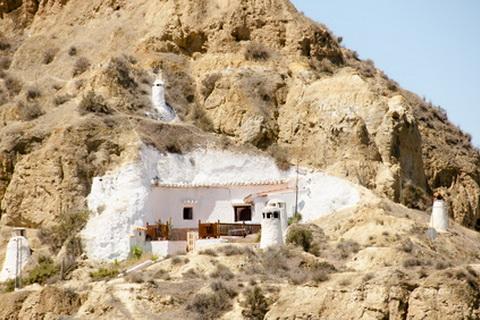 Höhlenwohnung in Guadix - Andalusien Städte und Dörfer