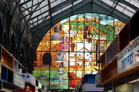 Markthalle in Malaga, Spanische Küche