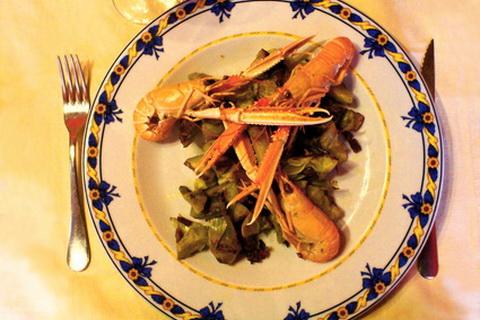 Meeresfrüchte auf Gemüsebett, Spanische Küche