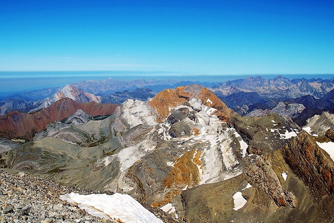 Monte Perdido von oben, Ordesa Nationalpark Nationalparks in Spanien