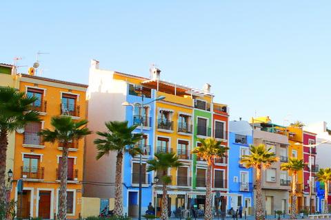 Strandpromenade in Villajoyosa, Andalusien Städte und Dörfer