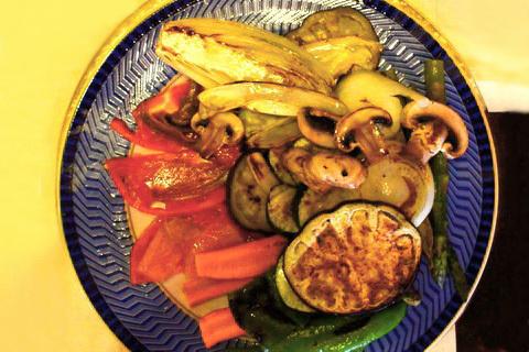 Vorspeisenteller mit frischen Gemüse, Spanische Küche
