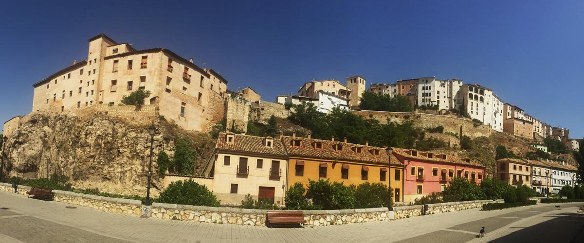 Altadt von Cuenca, Panoramabild, 1200x500