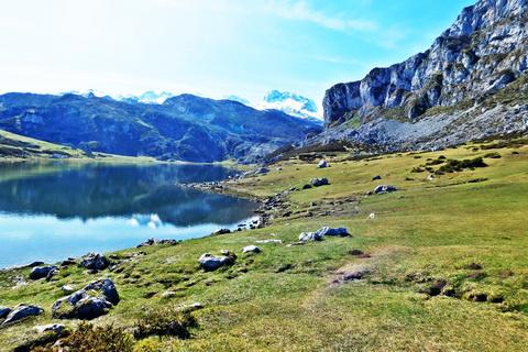 Bergsee in Asturien Landschaften und Natur