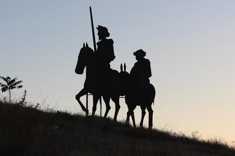Don Quijote und Sancho Pansa Spanien