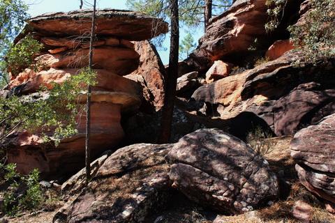 Sandstein-Landschaften im Selva Pascuala Villar del Humo