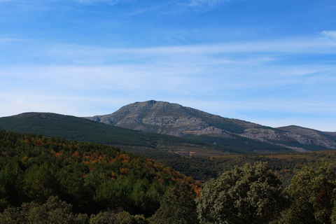 Sierra de Ayllon mit Pico de Ocejón die schwarzen Dörfer 480x320